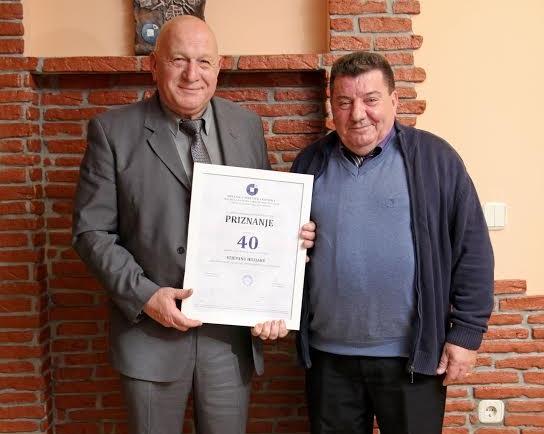 Stjepan Huzjak - 40 godina neprekidnog rada u obrtništvu