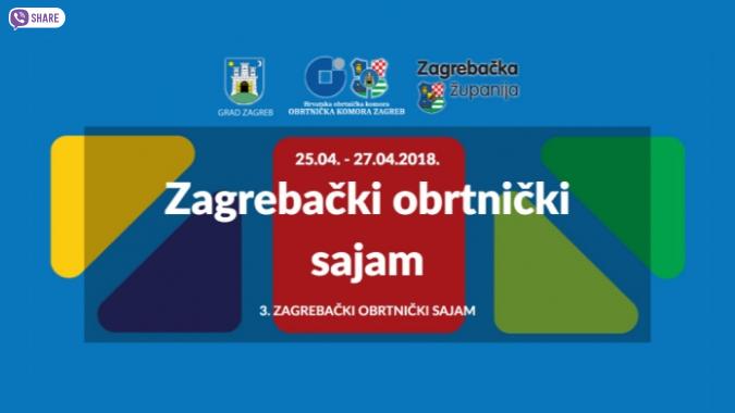 3. Zagrebački obrtnički sajam od 25. do 27. travnja