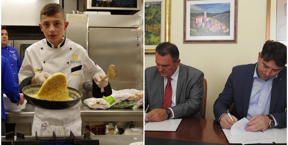 Mario Milak i župan Čačić potpisali ugovor o stipendiranju budućih kuhara, konobara i radnika u turizmu