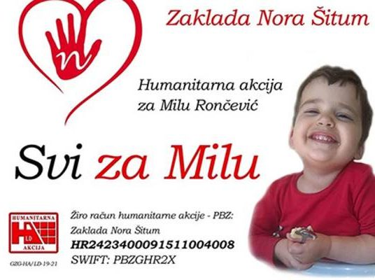 """Humanitarna akcija """"Svi za Milu"""""""