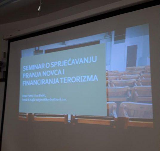 Održan prvi  Seminar o sprječavanju pranja novca i financiranja terorizma