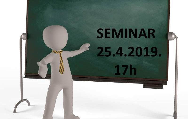 """Seminar: """"Zapošljavanje radnika, stručno osposobljavanje, ugovor o djelu - dokumentacija i knjigovodstveno praćenje u obrtu"""""""