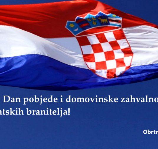 Čestitamo Dan pobjede i domovinske zahvalnosti i Dan hrvatskih branitelja!