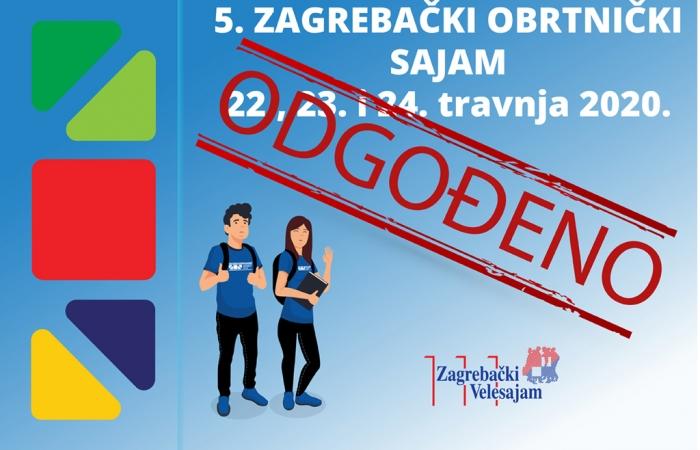 Odgađa se 5. Zagrebački obrtnički sajam